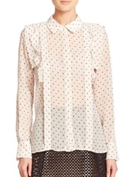 See By Chlo Sheer Polka Dot Blouse Ecru
