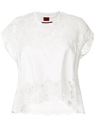 Moncler Gamme Rouge Embroidered Blouse White