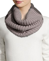 Cole Haan Colorblock Rib Knit Infinity Scarf Ironstone