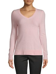 Saks Fifth Avenue Long Sleeve Cashmere Top Light Pink