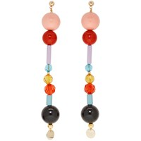 Emilio Pucci Multicolor Long Beaded Earrings