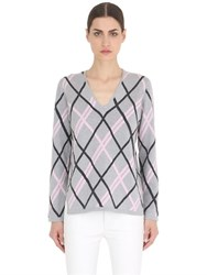 Salvatore Ferragamo Argyle Wool And Cashmere Sweater