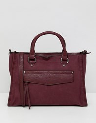 Asos Design Hidden Pocket Soft Tote Red