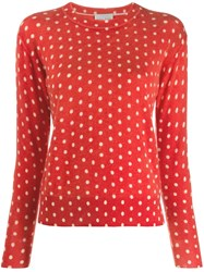 Forte Forte Polka Dot Jumper Red