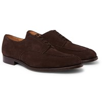 Tricker's Abingdon Suede Derby Shoes Brown