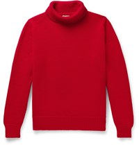 Connolly Goodwood Merino Wool Rollneck Sweater Red