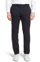 Brax Men's Big And Tall Flat Front Stretch Trousers Navy