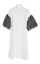 Tome Cotton And Tweed Shirt Dress White