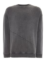 Label Lab Seymour Crew Neck Sweatshirt Dark Grey