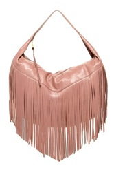Christopher Kon Fringe Leather Hobo Metallic