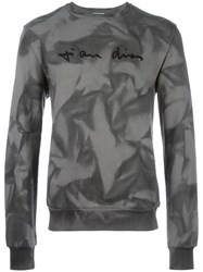 Christian Dior Homme Embroidered Chest Sweatshirt Grey