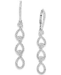 Eliot Danori Silver Tone Crystal Pave Linear Earrings