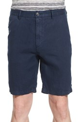 Men's Boss 'Yaron' Linen Shorts Navy