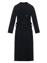Yohji Yamamoto Regulation Wool Blend Trench Coat