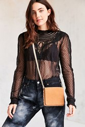 Urban Outfitters Whipstitch Crossbody Bag Brown