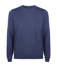 Boss Crew Neck Classic Merino Sweater Navy