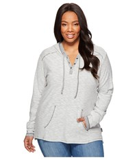 Columbia Plus Size Easygoing Hoodie Shark Women's Sweatshirt Gray