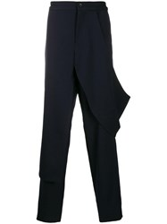 Chalayan Deconstructed Trousers Blue