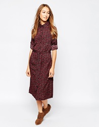 Influence Ditsy Print Shirt Dress With Belt Multi