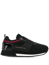 Tommy Hilfiger Panelled Lace Up Sneakers Black
