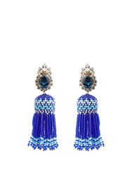 Shourouk Totem Tassel Earrings Navy