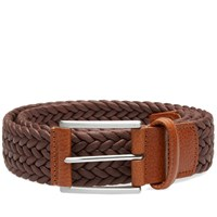 Andersons Anderson's Waxed Canvas Woven Belt Brown