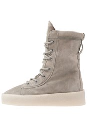 Bronx Laceup Boots Light Grey