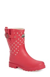 Chooka Women's 'Flash Dot' Waterproof Rain Boot