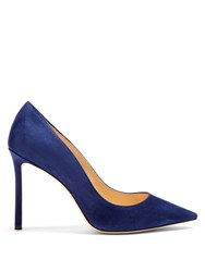 Jimmy Choo Romy 100Mm Suede Pumps Blue