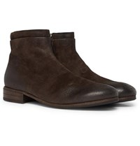 Marsell Burnished Suede Chelsea Boots Brown
