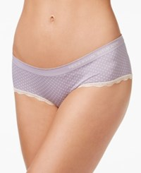Heidi Klum By Seamless Hipster H308 1175B Only At Macy's Purple Ash Silver Peony Dots