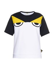 Fendi Bag Bugs Eyes Ski T Shirt White Multi