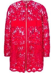 Moncler Gamme Rouge Floral Lace Jacket Red
