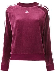 Adidas Tri Stripe Sweatshirt Red