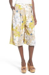 Women's Astr 'Lola' High Rise Floral Culottes