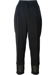 Avelon Loose Fit Cropped Trousers Black