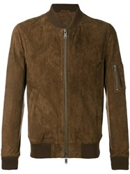 Desa Collection Bomber Jacket Men Cotton Leather 52 Brown