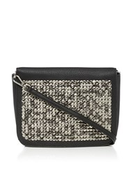 Label Lab Hammered Stud Satchel Black