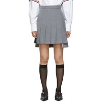 Thom Browne Grey Super High Waist Miniskirt