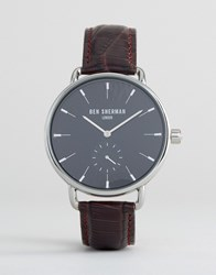 Ben Sherman Brown Leather Strap Watch Brown