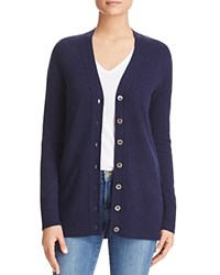 Bloomingdale's C By Grandfather Cashmere Cardigan Dark Navy