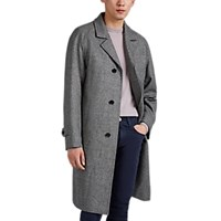 Sanyo Houndstooth Wool Overcoat Gray