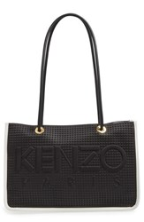 Kenzo Small Perforated Faux Leather Logo Tote
