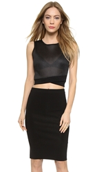 Dkny Sleeveless Crop Top With Zip Back