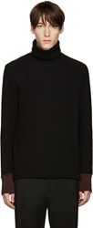 Umit Benan Black Wool Turtleneck