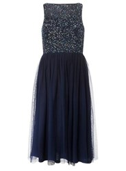 Dorothy Perkins Showcase 'Cordelia' Navy Sequin Prom Dress Blue