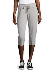 Calvin Klein Cotton Blend Cropped Pants Grey