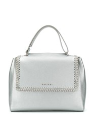 Orciani Chain Trimmed Bag Silver