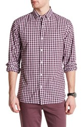 Bonobos Long Sleeve Plaid Standard Fit Woven Shirt Pink