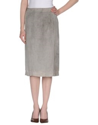 Ready To Fish Knee Length Skirts Light Grey